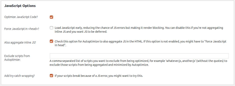 How to configure the plugin Autoptimize? – Web-ID