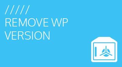 Remove WordPress version from header
